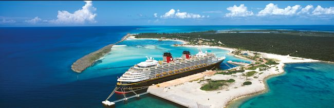 Disney Cruise Ship At Cataway Cay